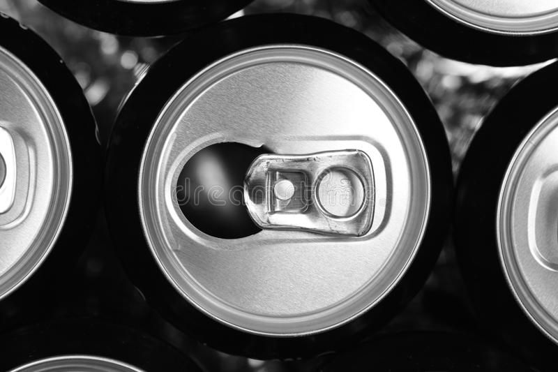 Empty Cans Stock Photography