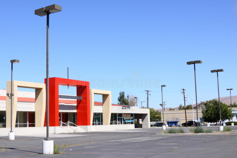 Empty car dealership royalty free stock photography
