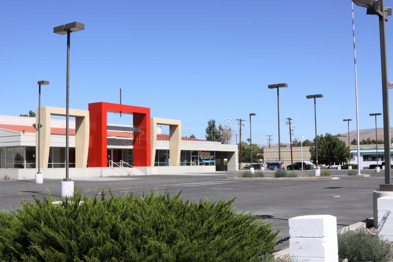 Empty car dealership royalty free stock image