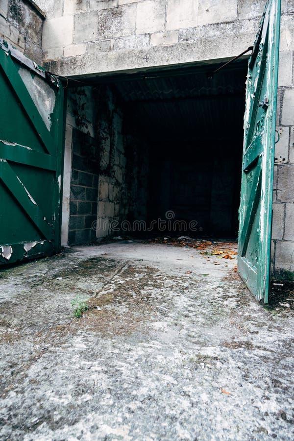 Empty Car Garage stock photos