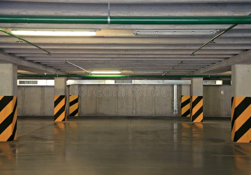 Empty car park royalty free stock image