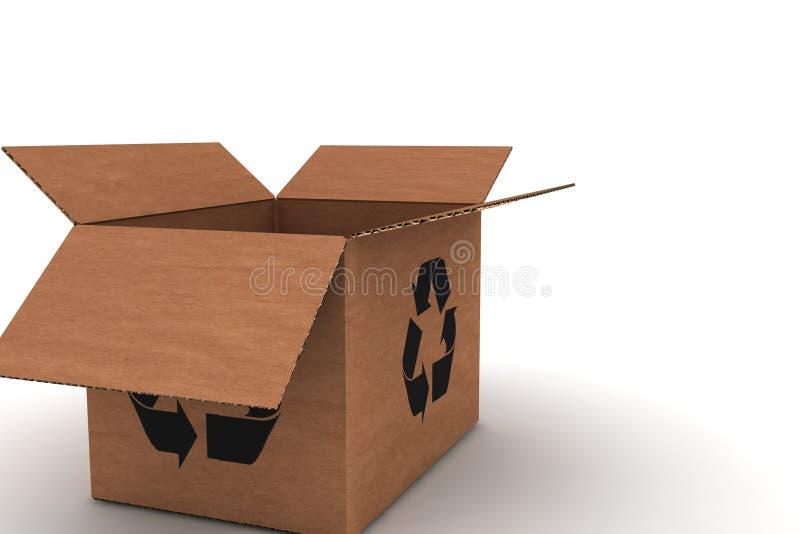 Empty cardboard royalty free stock photos