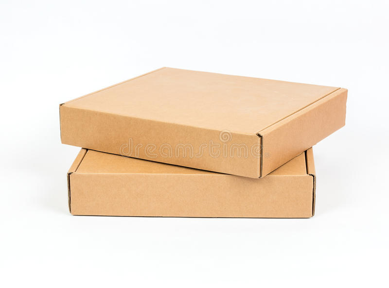 Empty Cardboard Box. Photo of an empty cardboard box on top of another one stock image