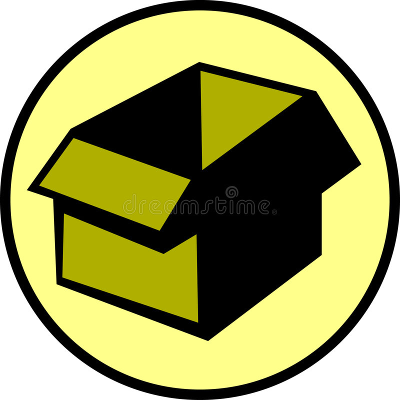 Empty cardboard box. Vector file available. Illustration of an empty cardboard box. Vector file available in EPS format vector illustration