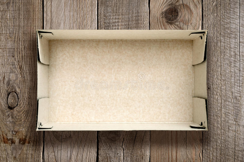 Empty cardboard box royalty free stock images