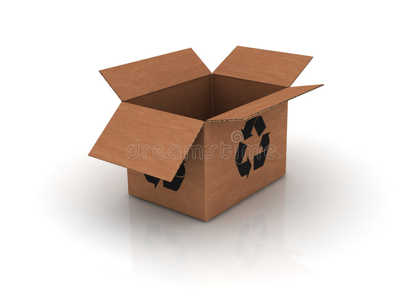 Download Empty Cardboard With Recycle Symbol Stock Illustration - Image: 8515262