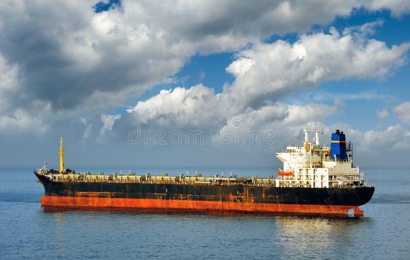 Empty cargo ship stock image. Image of floating ...