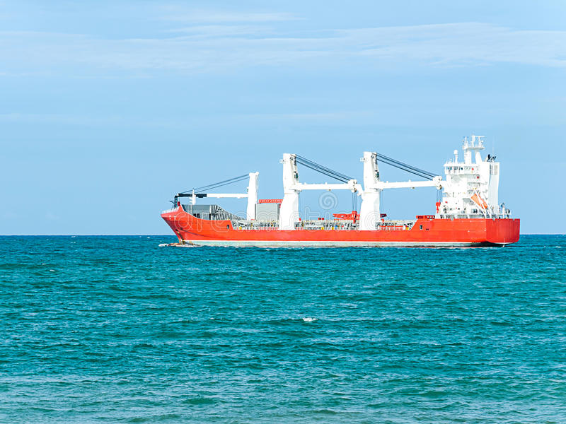 Download Empty cargo ship stock image. Image of nautical, color - 32855847
