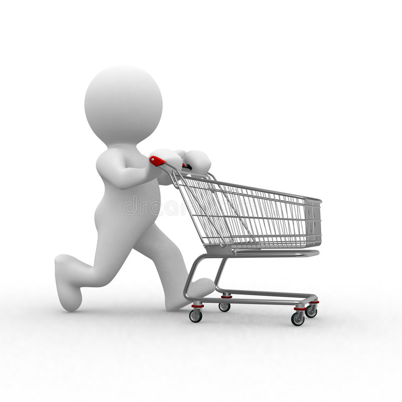 Download Empty cart stock illustration. Image of humorous, cart - 4253930