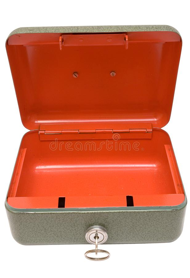 Empty Cash Box w/ Path (Top Front View) royalty free stock photos