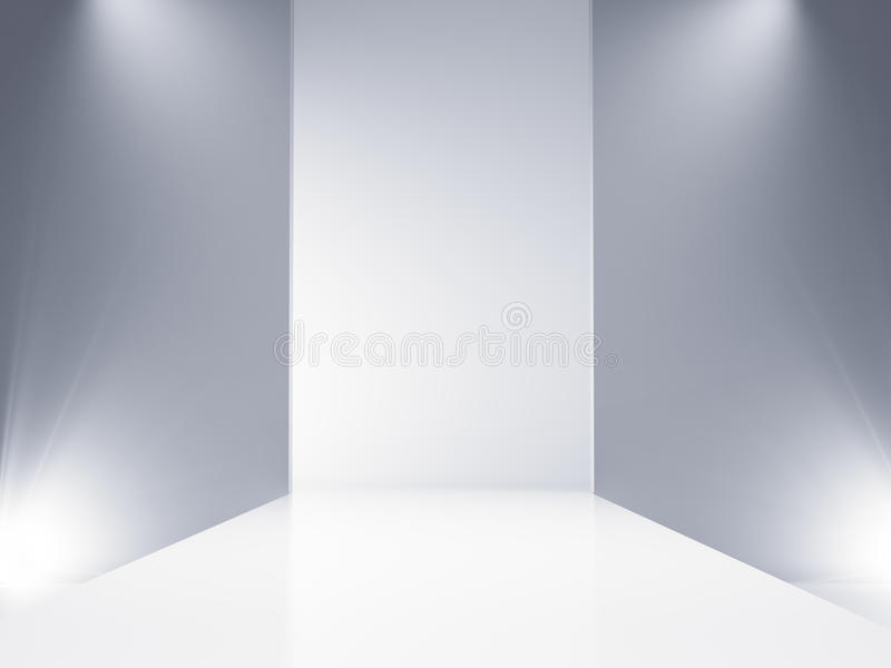 Empty catwalk vector illustration