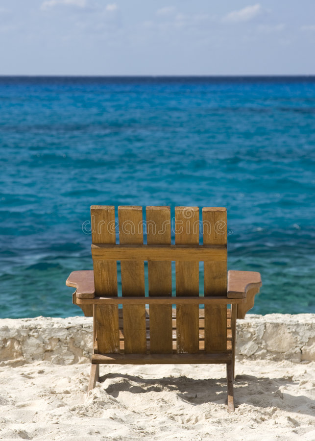 Download Empty Chair on the Beach stock image. Image of tropical - 9195375