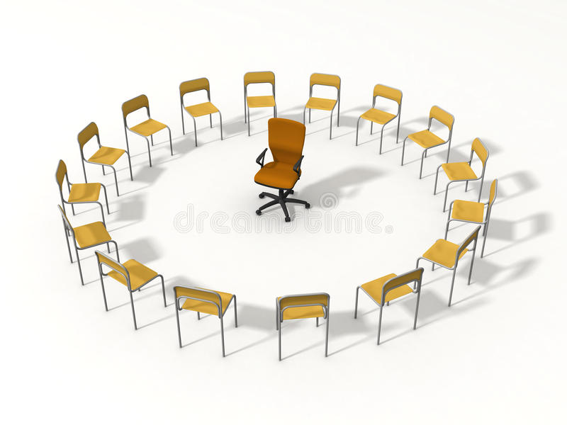 Download Empty chair for leader stock illustration. Image of seminar - 9417706