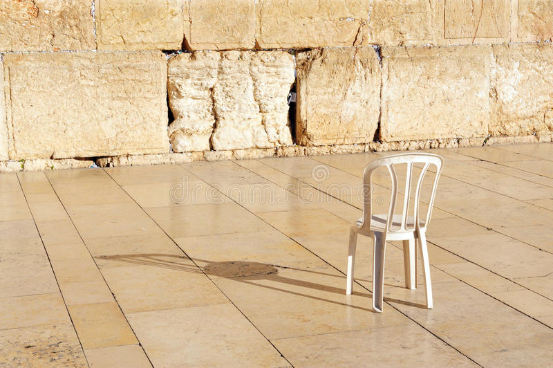 Download An Empty Chair At The Western Wall Jerusalem Stock Photo - Image: 26007036