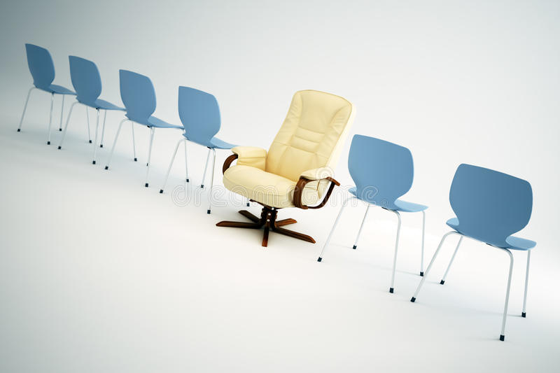 Download Empty Chairs - Leadership Concept Stock Illustration - Illustration of inside, chrome: 11507407