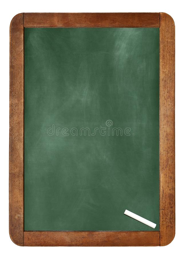 Empty Chalk board Background/Blank.A white chalk on Empty Chalk board Background/Blank. royalty free stock photos