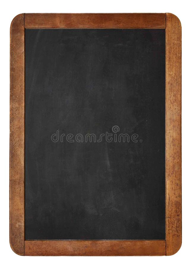 Empty Chalk board Background/Blank.A white chalk on Empty Chalk board Background/Blank. royalty free stock photo