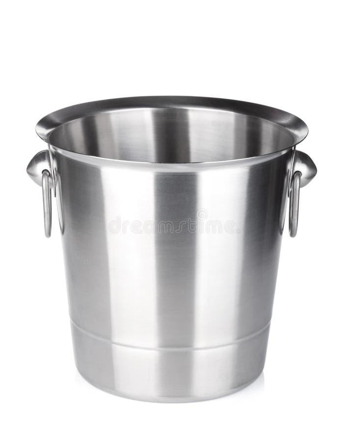 Empty champagne ice bucket royalty free stock photo