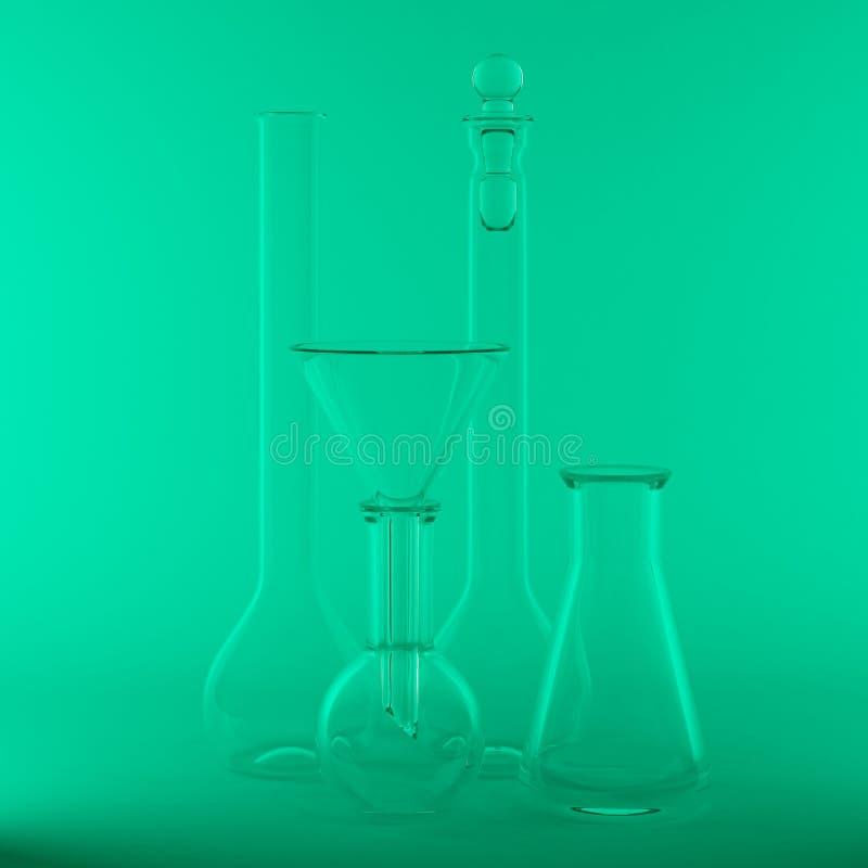 Download Empty chemical flasks stock illustration. Illustration of chemistry - 22973485