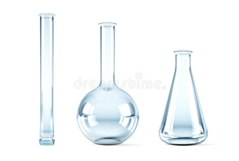 Empty chemical flasks stock illustration