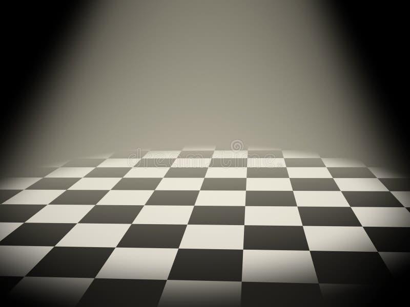 Empty chess board stock illustration