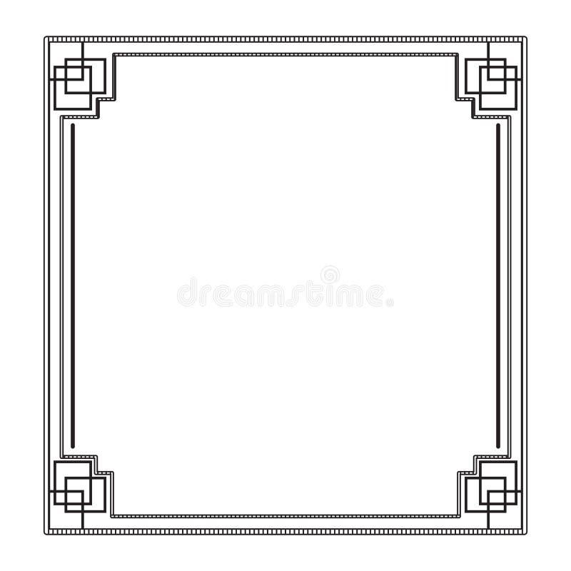 Chinese framework image. Empty chinese framework image. Vector illustration design stock illustration