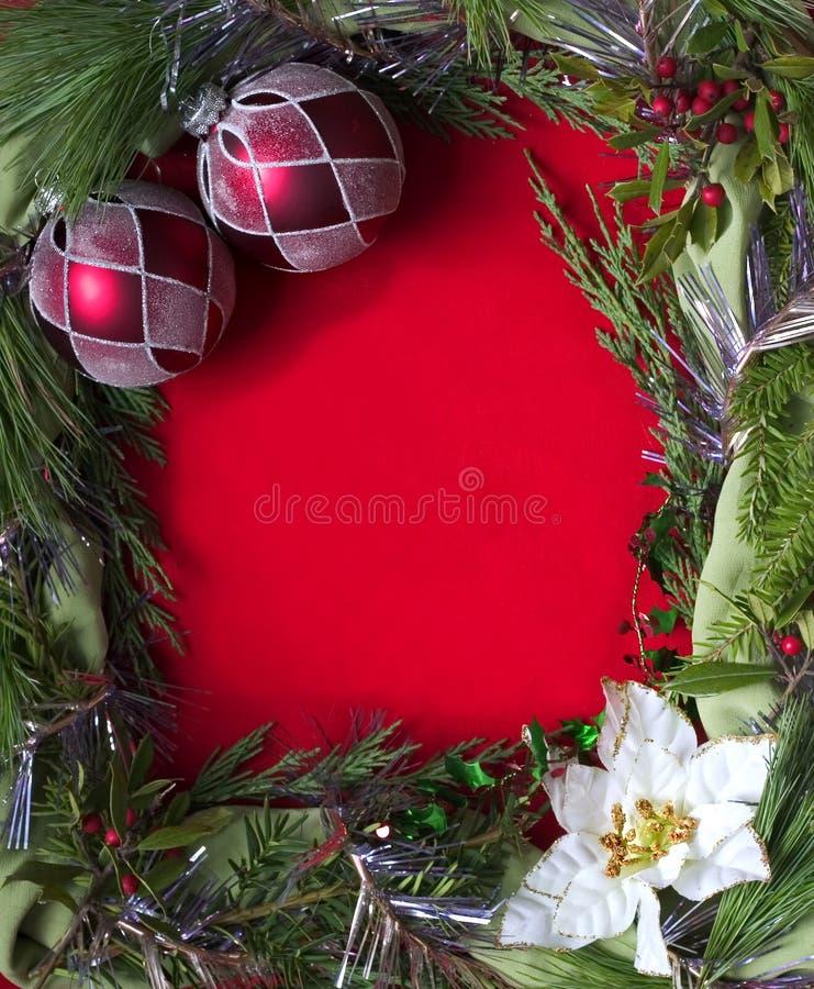 Empty christmas frame stock photography
