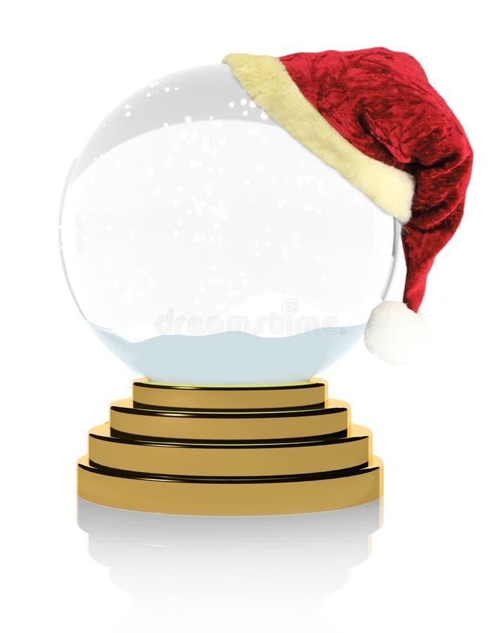Empty Christmas snow globe stock illustration