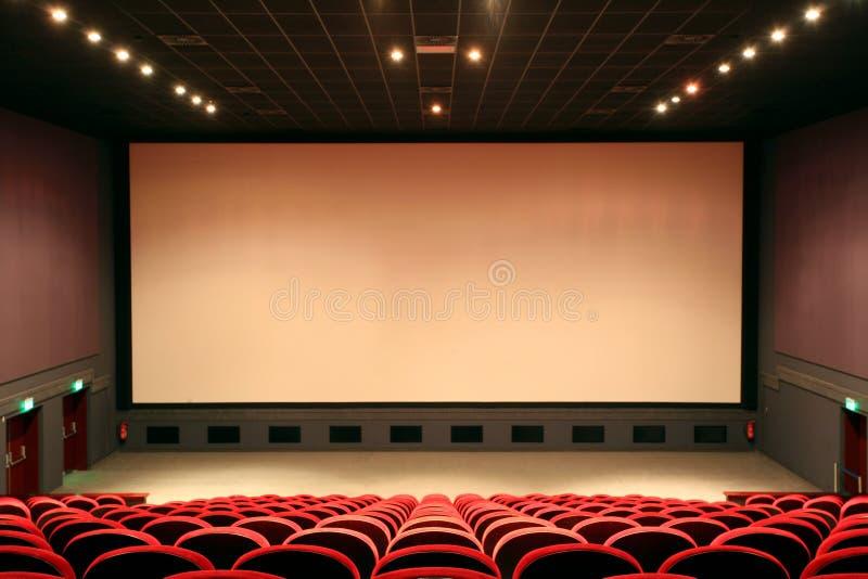 Empty cinema auditorium stock photos