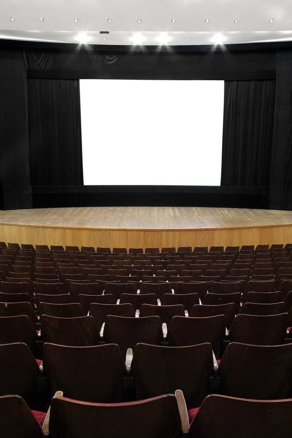 Empty cinema screen stock photo