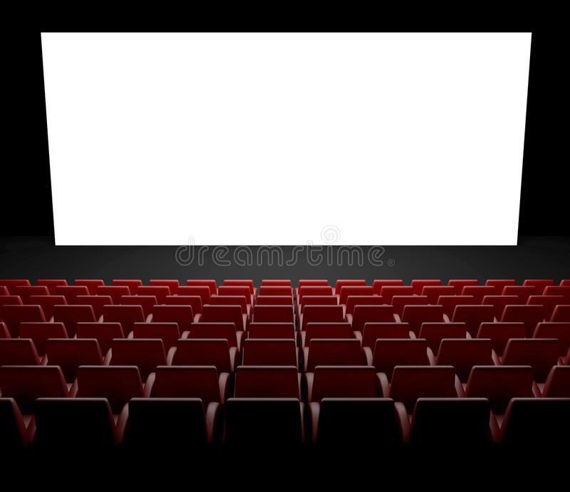 Empty Cinema Screen With Auditorium Stock Image Image