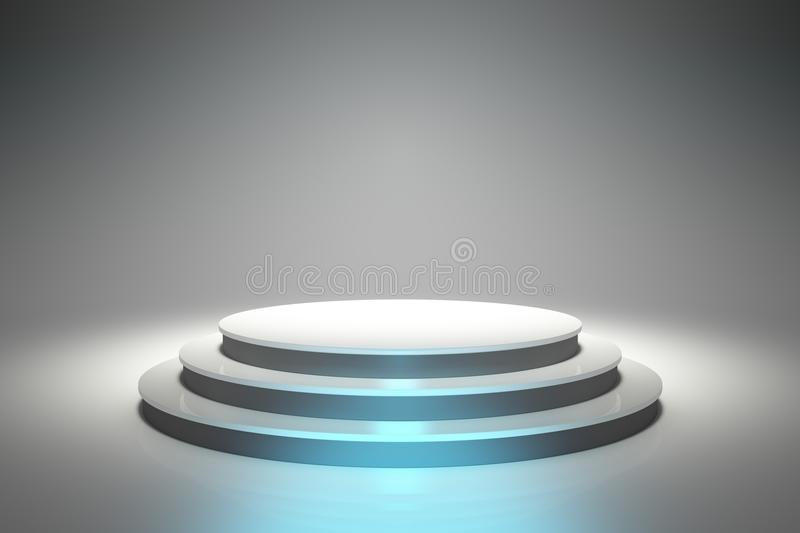 Empty Circular Podium royalty free illustration