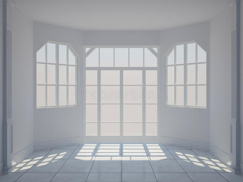 Empty Classic Room Stock Images