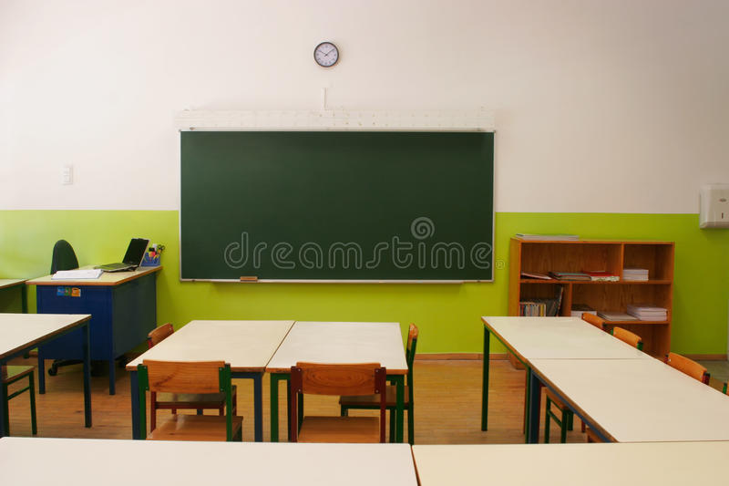 Empty classroom. Vision of the empty classroom stock photos