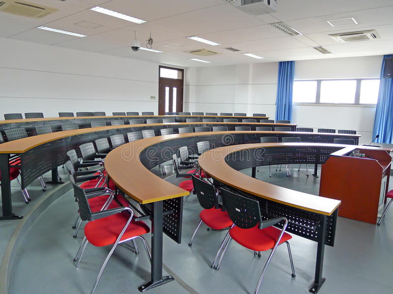 Empty classroom. In the college,China royalty free stock photo