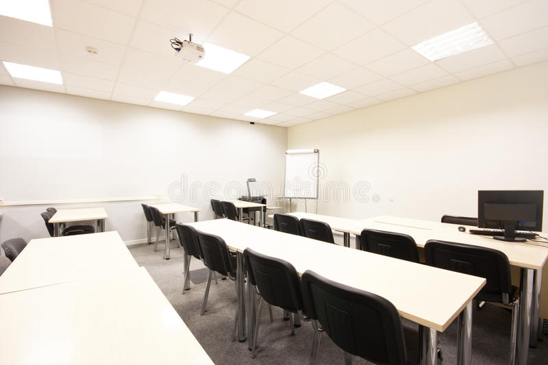 Empty classroom. High resolution photo of empty classroom royalty free stock image