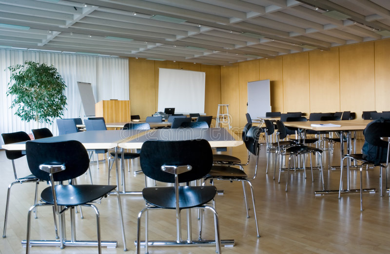 Empty Classroom. Ready to welcome students royalty free stock image