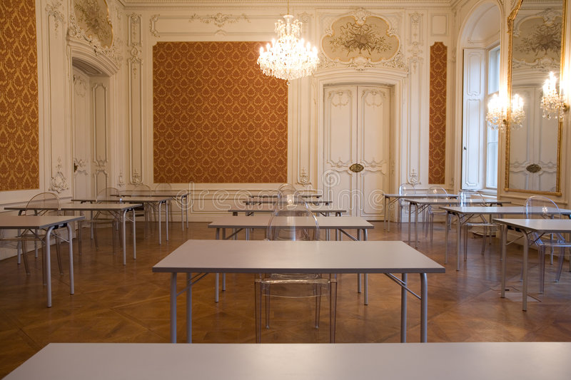 Empty Classroom In The Castle Royalty Free Stock Photo