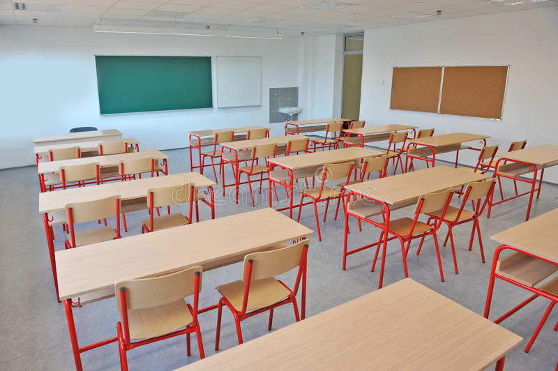 Download Empty classroom interior stock photo. Image of college - 23121008