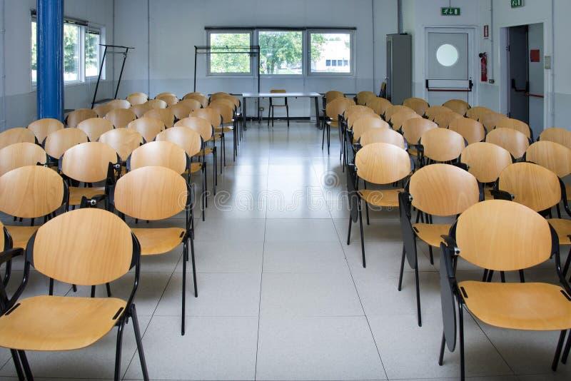 Empty classroom stock photos