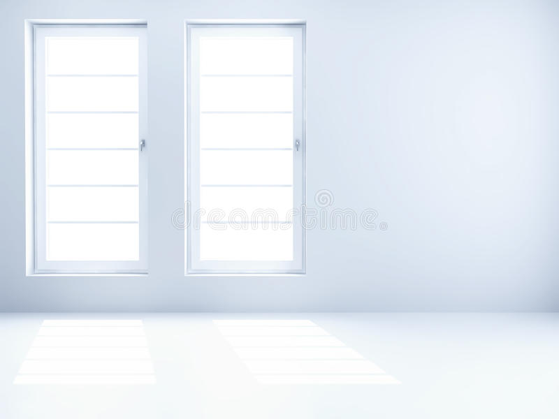 Empty clear room stock photo