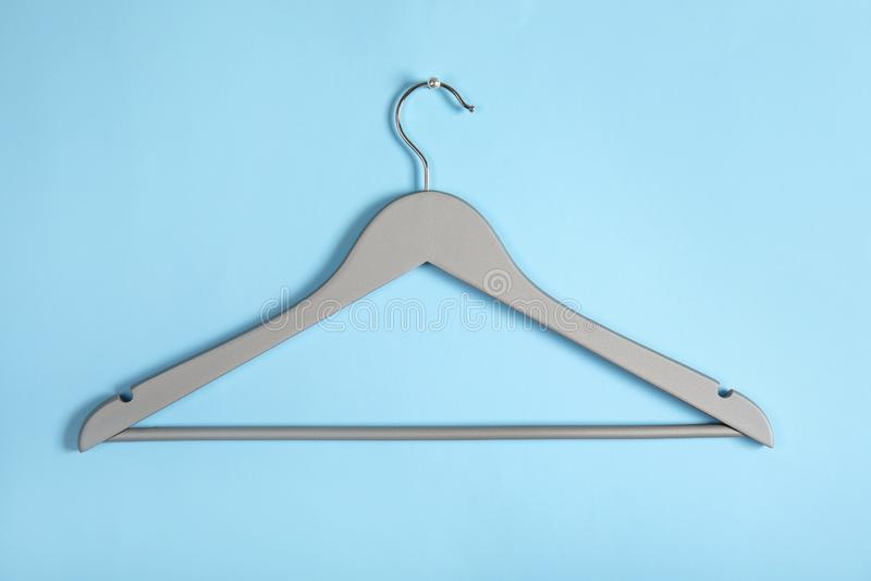 Empty clothes hanger. Wardrobe accessory royalty free stock image