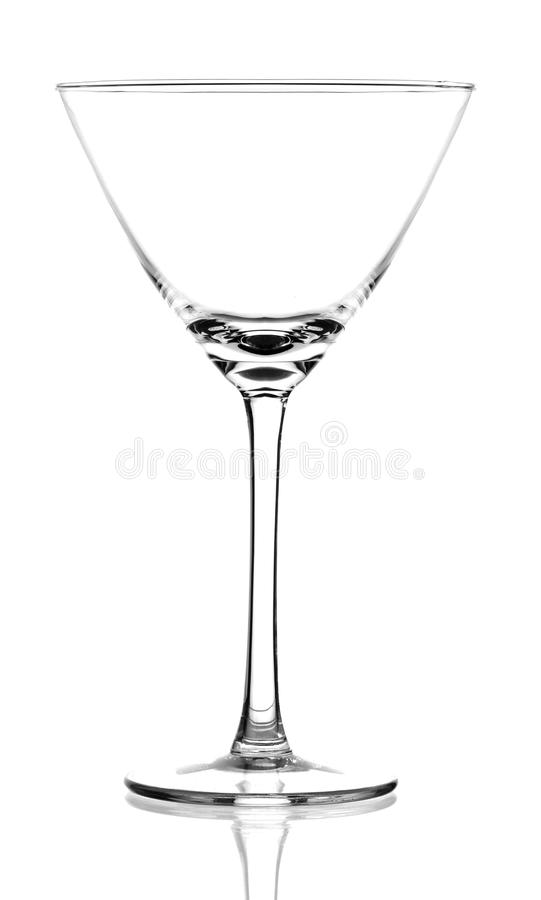 Empty cocktail glass stock image