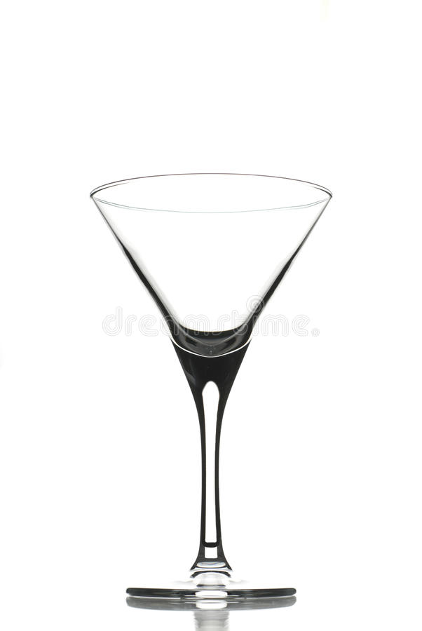 Empty cocktail glass royalty free stock image