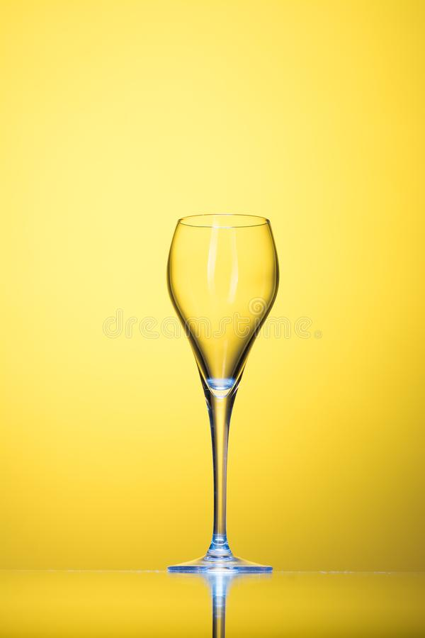 Empty cocktail glass stock photography