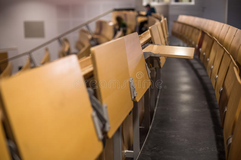Empty college auditorium. A plain empty college auditorium royalty free stock photography