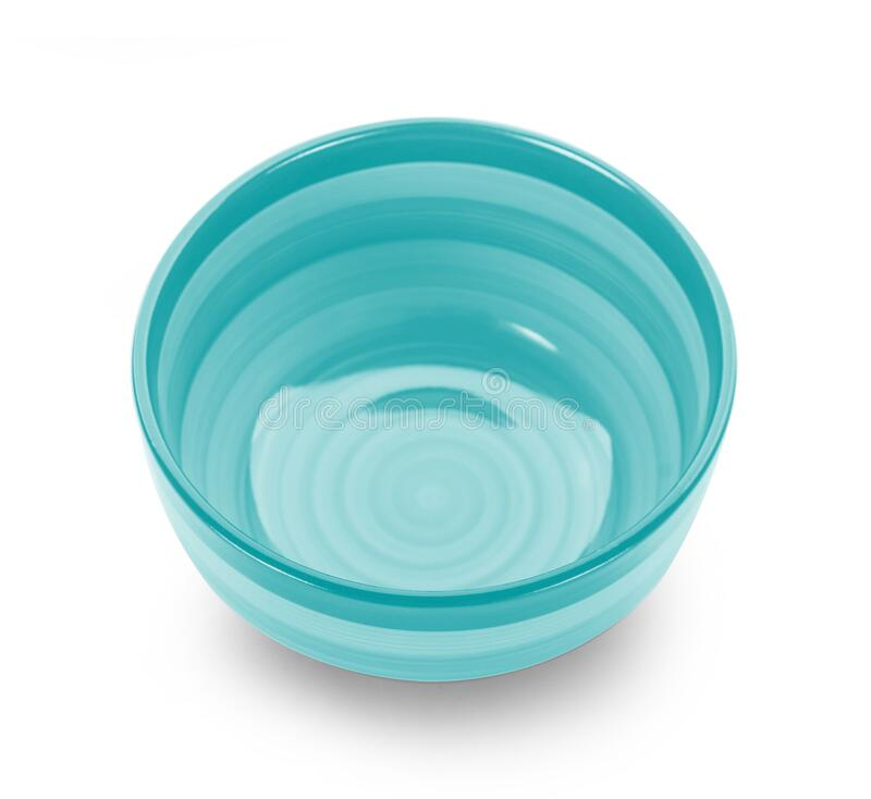 Free Empty Color Bowl On White Background Royalty Free Stock Photos - 185718408