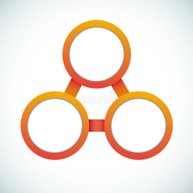 Empty color circle marketing flowchart. Vector illustration vector illustration