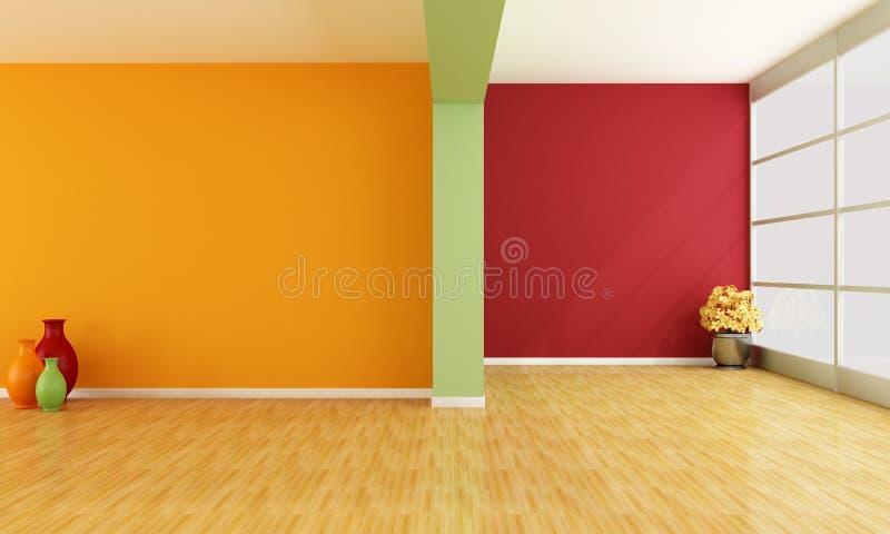 Empty colorful interior royalty free illustration