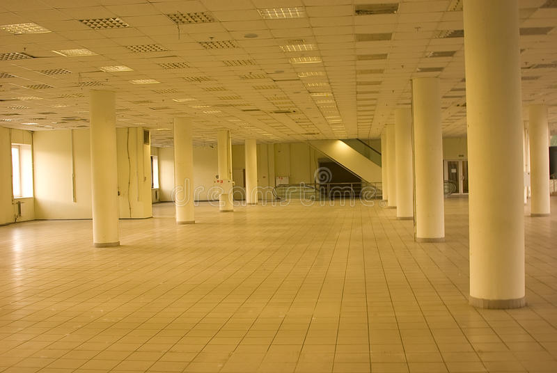 Empty commercial housing. In shopping centre stock photography